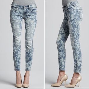 Free People Hawaiian Floral Skinny Jeans
